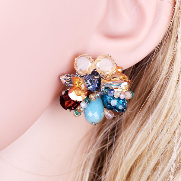 Beaded Bloom Studs
