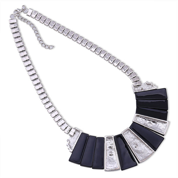 Black M Bar Necklace