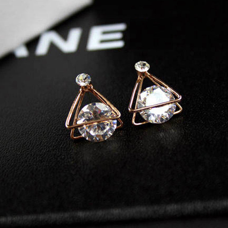 Crystal Geo Stone Earrings