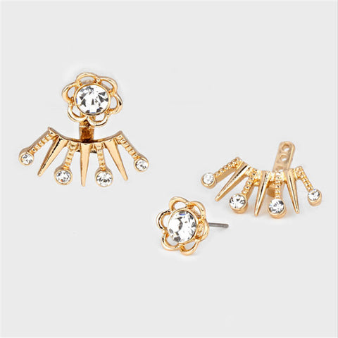 AA Flower Ear Jacket Earrings
