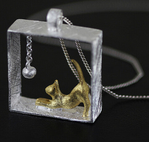 Square Prism Cat Necklace