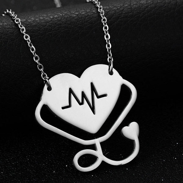 Stethoscope Heart Pendant-  Save Up To 50%