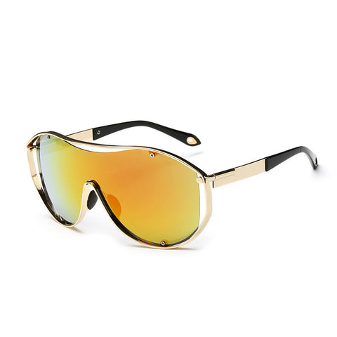 Femmi Mirrored Block Sunglasses