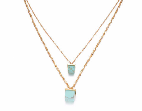 Turquoise Stone Layer Necklace