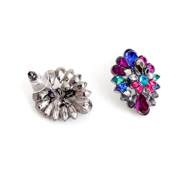 Peacock Spray Studs