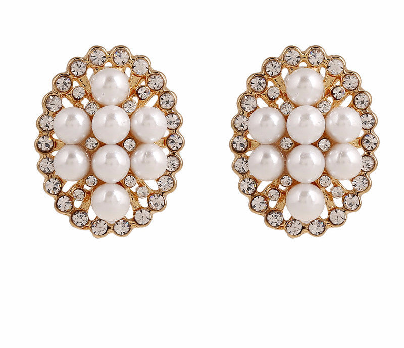 CZ Pearl Stud Earrings