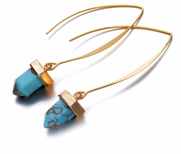 Yin Turquoise Drop Earrings