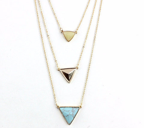 Triangle Layer Necklace