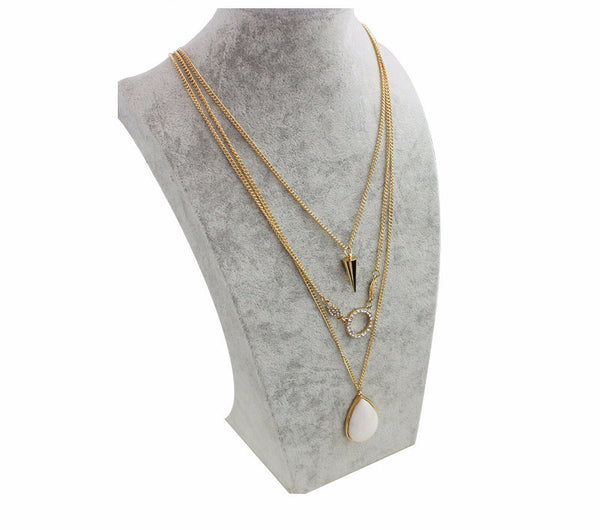 CZ Stone Layer Necklace