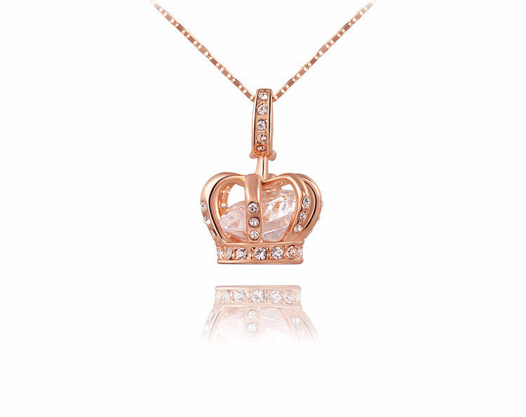 Crown CZ Necklace- Save Up To 20%