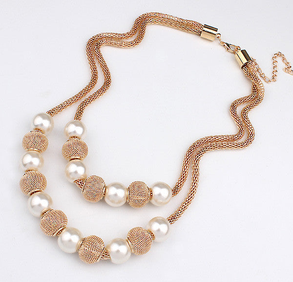 Golden Bead M Necklace