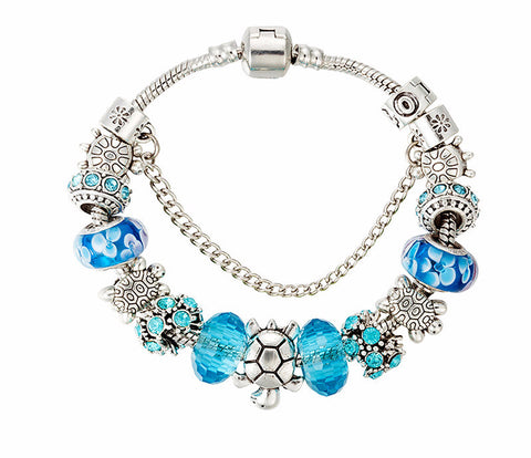 Clear Blue Sea Turtle Bracelet- Save Up to 30% OFF