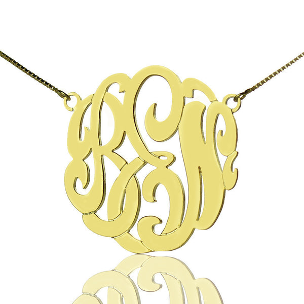 New Femmi C script Monogram Necklace.