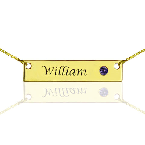 Birth Stone Name Bar