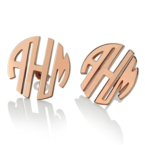 Femmi Blocked Monogram Earrings