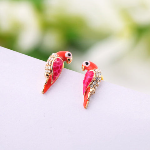 Crystal Parrot Earrings
