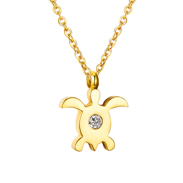 Crystal Turtle Pendant Necklace- Save Up To 25%