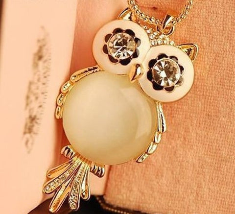 Crystal Eyed Owl Necklace
