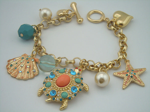 Turtle Charm Bracelet- Save Up to 35%