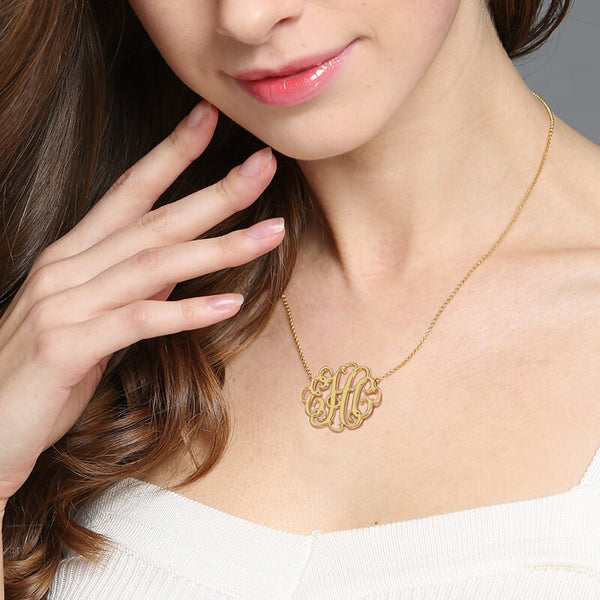 Femmi Halo Monogram Necklace- NEW Design!
