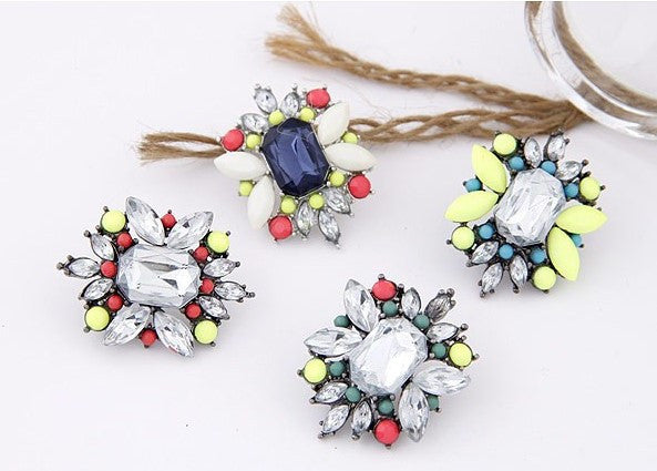 Retro Flower Statement Earrings