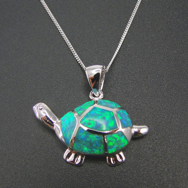 Fire Opal Sea Turtle Necklace- 50% OFF
