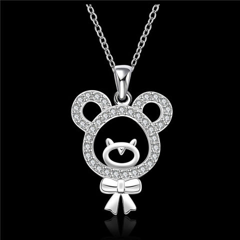 Baby Femmi-Bear Pendant Necklace