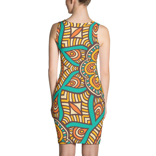 Femmi Tribal Fit Bodycon Dress