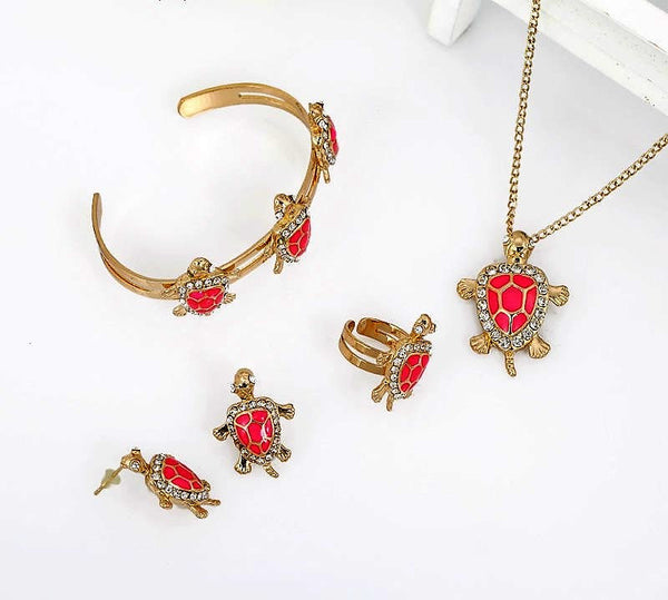 Baby Femmi-Crystal Turtle Jewelry Set