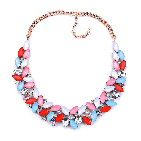 Gem Drop Statement Necklace