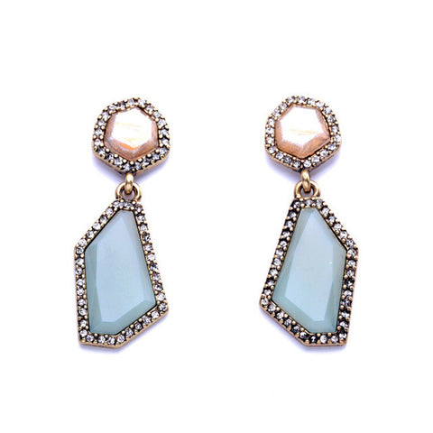 Crystal Rock Drop Earring