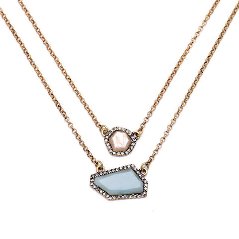 Crystal Rock Layer Necklace