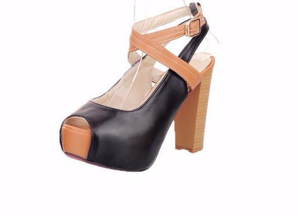 Raina Ankle Cross Platform Pumps