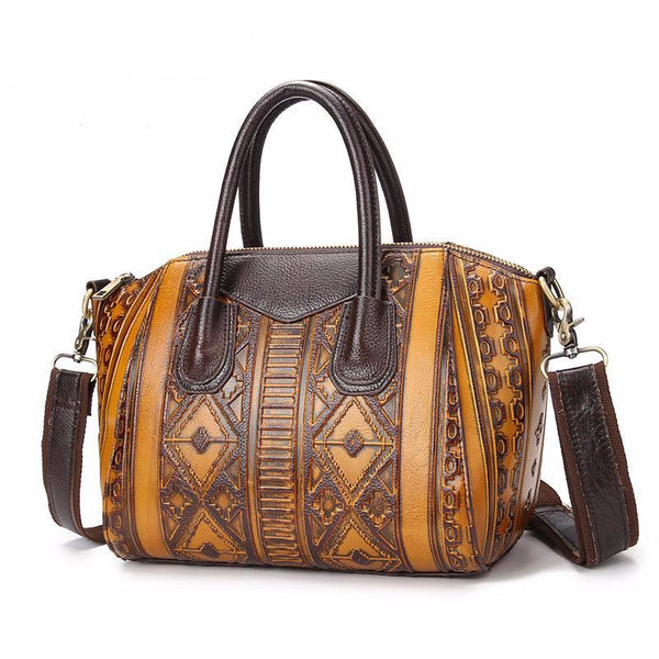 Tribal Vintage Leather Handbag