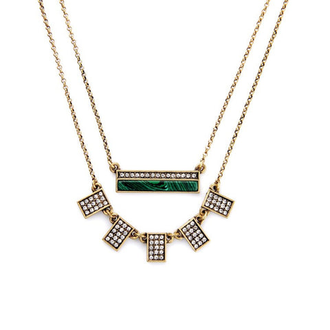 Aztec Crystal Bar Necklace