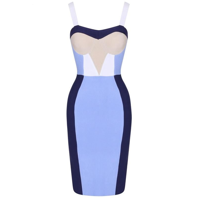 Nova Colorblock Bandage Dress