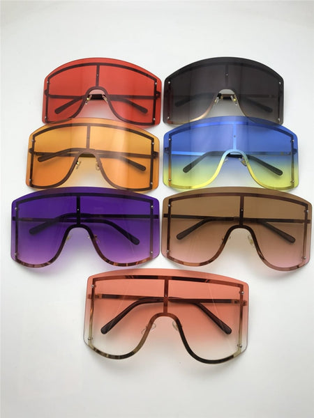 Rimless Metal Shades