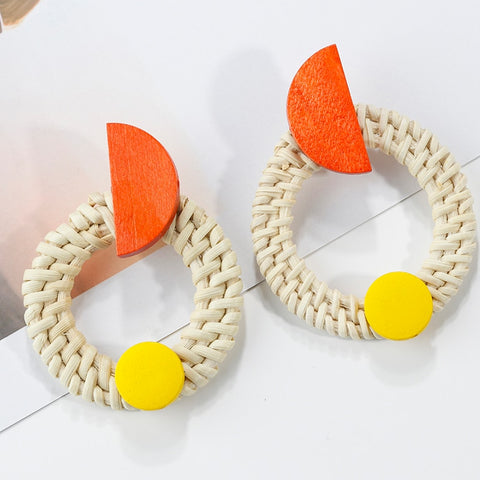 Bohemia Orange Slice earrings