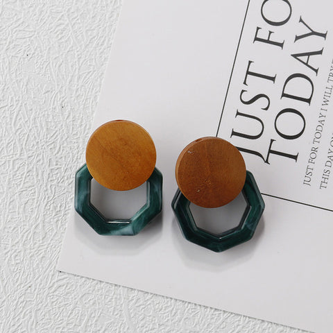 Resin Wood Earring