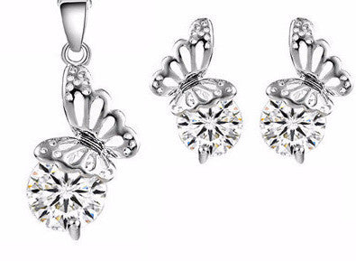 G Silver Butterfly Set