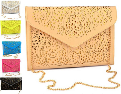 Stencil Envelope Clutch