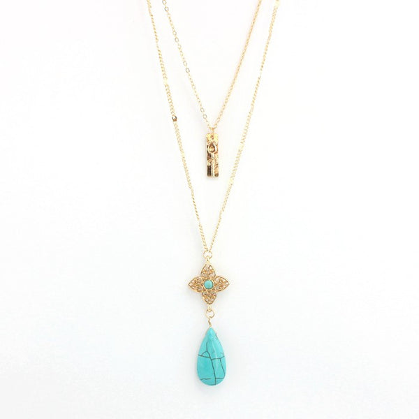 Water Drop Layer Necklace