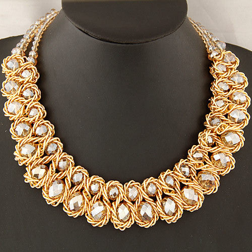 Aurora M Twist Statement Necklace