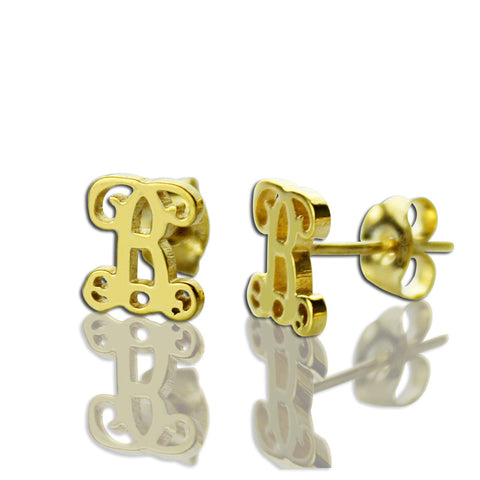 Femmi Single Script Studs