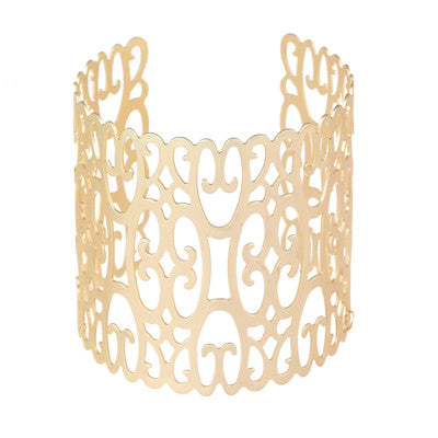 Hollow Out Wide Cuff Bracelet