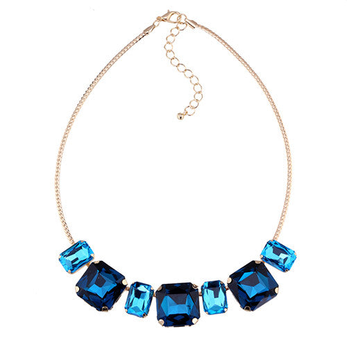 Crystal M Cube Necklace