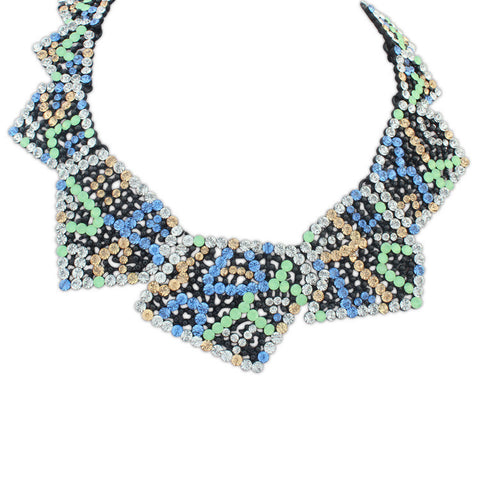 Geo Studded M Necklace