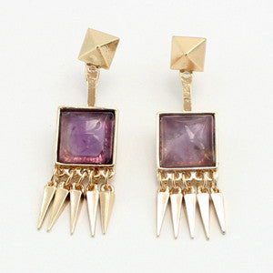 Boho Quartz Ear Jacket Earrings