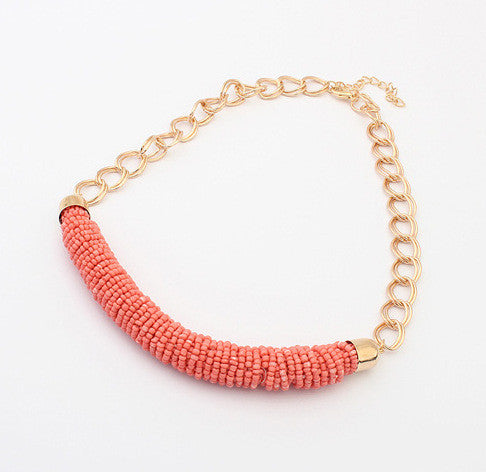 Beaded M Coil Necklace- 20% OFF