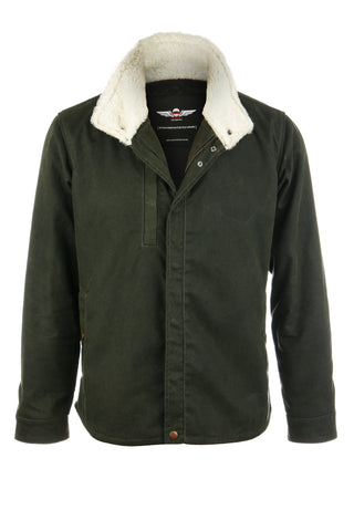 Vaktare - The Ranger Waxed Motorcycle Jacket - Olive Green